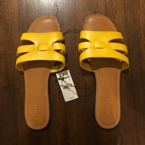 Express yellow sandals